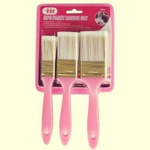 3pc paint brush set pink