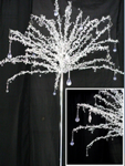beaded tree top with base