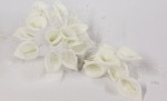 calla foam round bouquet white