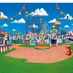 carnival photography backdrop 10 x 10