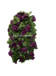 chainlink purple rose garland
