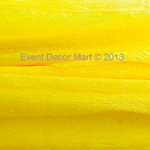 crepe paper-canary yellow 1pc
