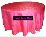 crush satin table cover fuchsia