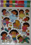 dora funny stickers 6c 3d 10 sheet