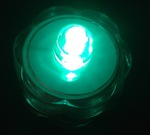 led submersible green lights pk 12