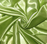 satin panel lime green- 5 x 20