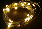 yellow led fairy wire light -waterproof